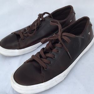SPERRY TOP-SIDER  LEATHER LACE UP SNEAKERS SZ 7